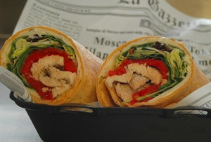 Chicken Roasted Pepper Wrap