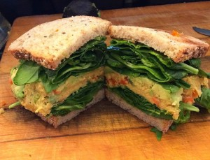 Our delicious vegan Mashed Chickpea Salad Sandwich